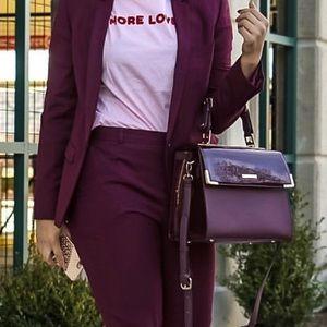 Handbags - Burgundy Vegan Leather Purse
